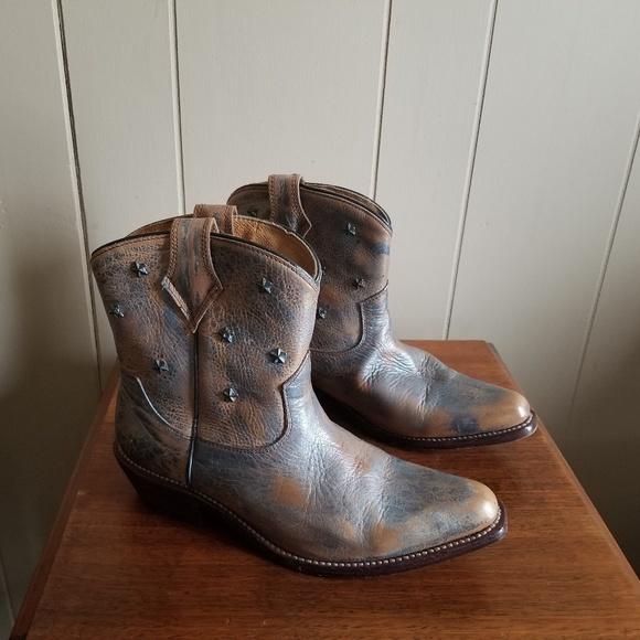 watch 617a6 91b61 Bed Stu Cobbler series gazelle short western boot